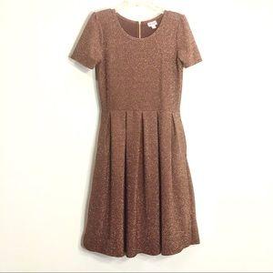 Rare Lularoe Copper Rust Sparkly Amelia Dress